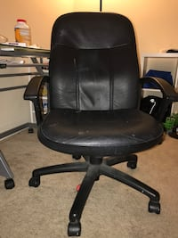 black leather office rolling chair Belmont, 94002