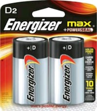 2 pack of Energizer D Batteries! Unopened