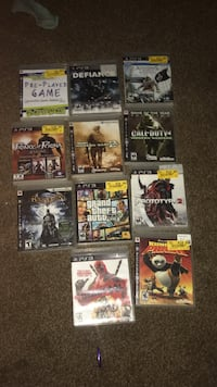 assorted Sony PS3 game cases Joplin, 64801