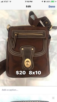 black and brown leather crossbody bag Las Vegas, 89129
