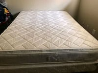 Queen size mattress and box spring.