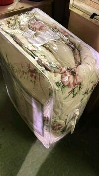 white and pink floral print diaper pack Toronto, M8V 3K7