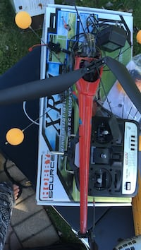 red and black Hobby Source helicopter with box Kings Park, 11754