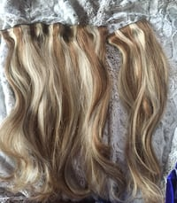 "Real Human Hair Clip Ons Locks'n'Mane 18"" Calgary, T2K 1M4"