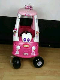 pink and white Little Tikes cozy coupe Coral Springs, 33065