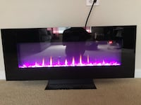 Colorful LED fireplace - with heat and air controls and crystals. Fairfax, 22030