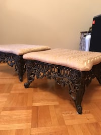 Foot stools 15 x 15 8 inches high iron legs and fabric top Vaughan, L4L 5H5