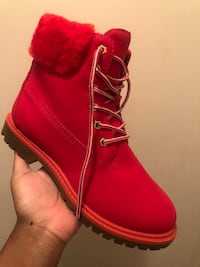red high top boots!  Toronto, M9N 2T7