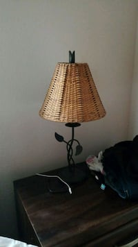 brown and white table lamp 2056 mi