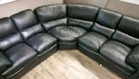 black leather 3-seat recliner sofa Surrey, V3W 4M9