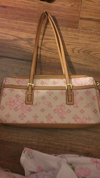 white and pink floral leather sling bag Calgary, T2A 5T5