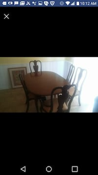 Ethan Allen dining room table & chairs