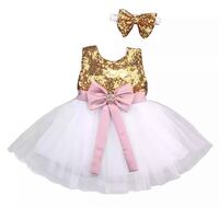 Princess Sequins Bowknot Dress & Headband Concord, 28025