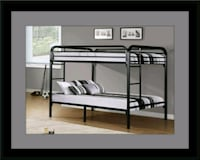 Twin bunkbed frame with 2 mattress Adelphi