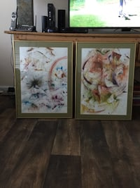 two white and pink flowers painting Ashburn, 20148