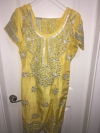women's yellow and white floral blouse Surrey