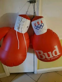 1992 Budweiser blow up boxing gloves.  USA olympics Essex, 21221