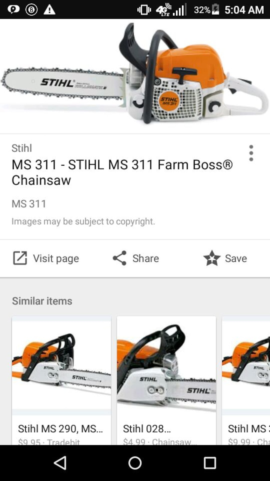Used stihl ms 311 chainsaw in - Stihl ms 311 ...