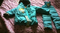 child's green bubble zip-up hoodie and jumpsuit Ottawa, K1C 1S2