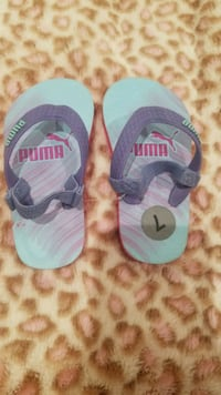 pair of blue-and-pink PUMA slide sandals Compton, 90220