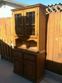 brown wooden cabinet with hutch Bakersfield, 93307