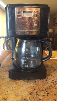 black and stainless steel coffee maker Bowie, 20721