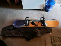 snow board and carry bag