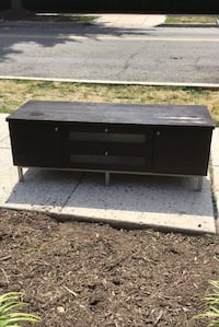 black wooden TV stand with cabinet Fort Myer, 22211