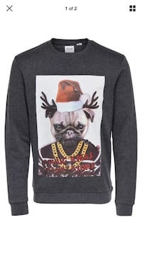 Only and Sons a thug Xmas sweater Small Slim Fit Laurel, 20723