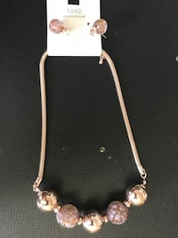 Silver-colored chain necklace with heart pendant (reserved) Montréal, H3W 1K5