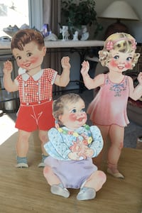 "Vintage "" Our New Baby"" paper dolls Anoka"