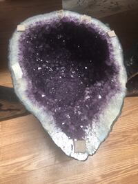 purple and white fur textile null