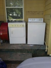 white top-load washer and dryer set Houston, 77087