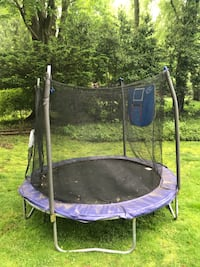 Blue and black 8ft outdoor trampoline Fairfield, 06824
