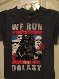 black, red and blue The Galaxy Darth Vader crew-neck shirt boys