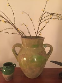 Light green, rustic Pottery Barn vase with or without decorative branches Chevy Chase, 20815