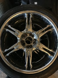 "19"" CHROME PLATED 5 LUGS WHEELS TAKES 245/40 R19  NEEDS 3 NEW TIRES, ONE WHEEL HAS SMALL CHROME CHIPPING AND  NO CENTER CAPS. Burtonsville, 20866"