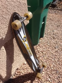 "black and white long board sector9 39""long"