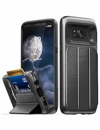 New Galaxy S8 Plus Wallet Case, Military Grade Drop Protection for S8+