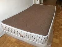 Bed frame with free mattress
