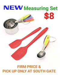 NEW!! Measuring Set Plus Free 2 Spatulas South Gate, 90280