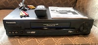 Panasonic PV-9662 VHS VCR w/Remote, A/V cable, manual
