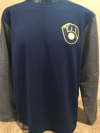 Brewers Majestic Men's Pullover, Size XL Milwaukee