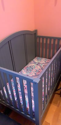 Baby's grey wooden crib (pottery Barn) Falls Church, 22043