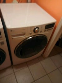 white front-load clothes washer and dryer set