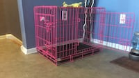 pink collapsible pet crate Toronto, M9L