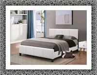 White platform bed mattress box free delivery  Ashburn, 20147