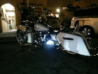 black and gray touring motorcycle