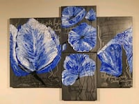 blue and white petaled flower painting Ajax, L1T 0G3