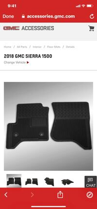 New GMC Sierra and Silverado floor mats. Woodlawn, 37191